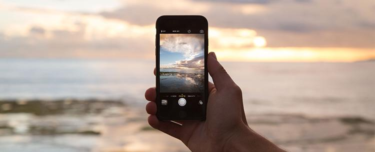 telefon s fotografií