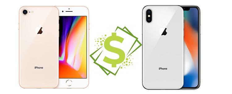 Cenové srovnání - iPhone 8 vs. iPhone X