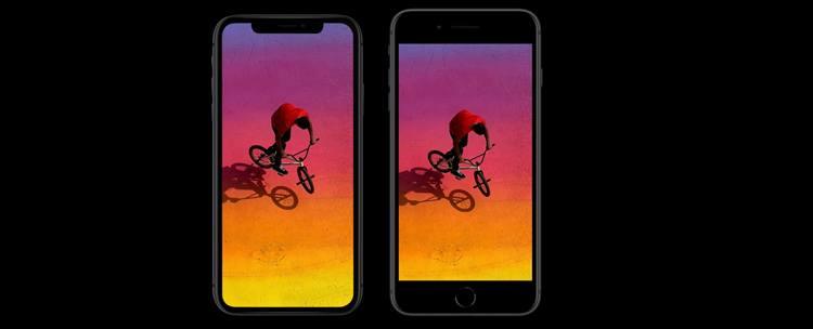 Displej - iPhone 8 vs. iPhone X