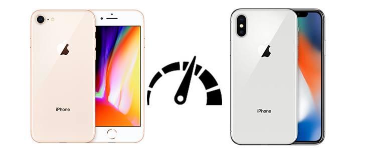 Výkonnost - iPhone 8 vs. iPhone X